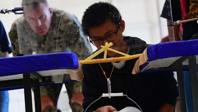 Up to the Challenge: 146th Hosts Tri-Warfare Middle School STEM Students
