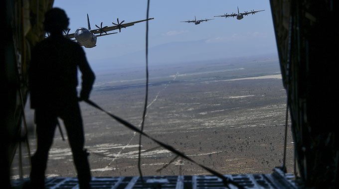 Operation America Strong: 146th Airlift Wing salutes first responders with local flyover during training mission